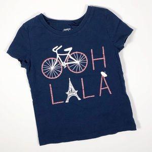 Osh Kosh Originals Girls Graphic Shirt Paris Theme